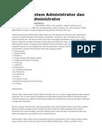 Definisi System Administrator Dan Network
