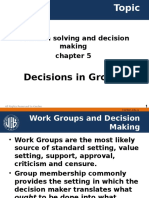 Decisions in Groups