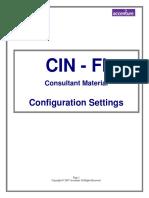 SAPCIN FI Configuration