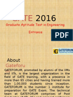 Graduate Aptitude Test in Engineering Entrance