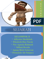 Sejarah ( Zaman Mesolithikum)