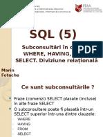 15 SQL5 SELECT Subconsultari