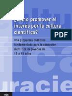 como promover interes cultura cientifica