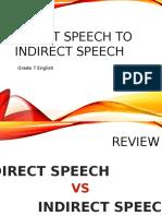 Direct Speech to Indirect Speech