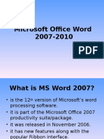 MsWord Introduction