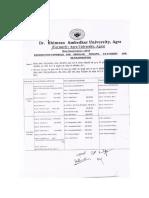 DBRAU Scheme 2016 Main Exam