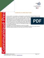 2016 03 17 Communiqué Accident Bus Yonne
