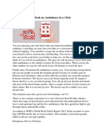 Ambulance App - Book an Ambulance in a Click