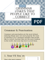 7 Grammar Mistakes that People Like to Correct