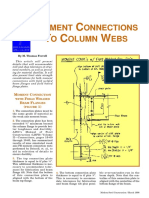 Moment Connections to Column Webs