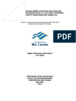 Analisis Manajemen Strategi Dan Analisis Laporan Keuangan Pada Pt Jaya Real Property Tbk Dan Pt Bumi Serpong Damai Tbk