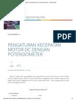 Pengaturan Kecepatan Motor DC Dengan Potensiometer _ Engineering Edu
