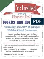 honor roll invite dec