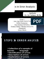 steps in error analysis