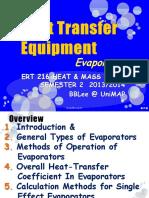 6. Heat Transfer Equipment Evaporator