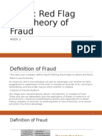 Red Flag and Theories of Fraud