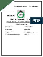 UN stabilisation mission in haiti