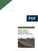 Manual Para La Planificación de Productos Turísticos