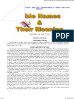 Bible Names and Their Meanings
