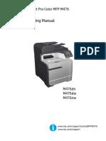 HP LaserJet Pro Color MFP M476 Troubleshooting Manual