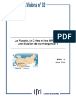 La Russie, la Chine et les BRICS