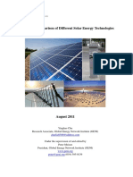 Review and Comparison of Different Solar Technologies