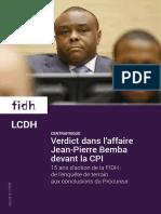 Verdict dans l'affaire Jean-Pierre Bemba devant la CPI