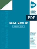 CYPE 3D - Memoria de Cálculo