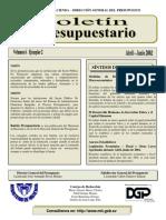 BoletIn Presupuestario Abr-Jun 2002