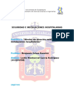 niveles de atencion medica en instalaciones hospitalarias