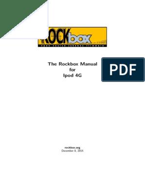 rockbox-ipod4g | Installation (Computer Programs) | Booting