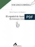 Espanol America II MorfosintaxisVAQUERO