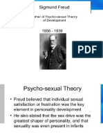 Physco-sexual Theory- Segmund Freud