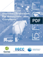 IIGCC Global Climate Disclosure Framework for Automotive Companies 2009