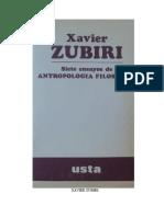 Zubiri, Xavier (1982). Siete Ensayos de Antropologia Filosofica. Ed. German Marquinez Argote