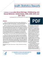 Trends in Attitudes About Marriage, Childbearing, and Sexual Behavior