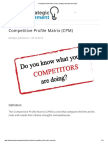 Competitive Profile Matrix (CPM) _ Strategic Management Insight