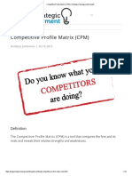 Competitive Profile Matrix (CPM) _ Strategic Management Insight