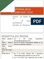 Laporan Jaga Bedah Rsp 6 Februari 2016 Edit