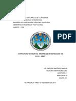 4 TI Estructura Técnica de El Iinforme de Investigación de Ciencias Economicas