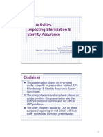 Usp Activities Impacting Sterilization Sterility Assurance