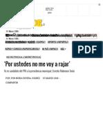 03-08-2016 'Por Ustedes No Me Voy a Rajar'