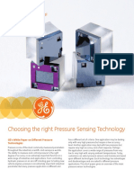 Sensors Whitepaper - Choosing the Right Pressure Sensing Technology