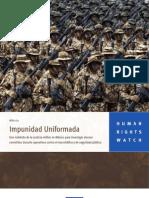 Impunidad uniformada en México (HRW)