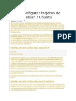 Cómo Configurar Tarjetas de Red en Debian