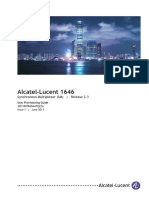 Alcatel-Lucent 1646 Synchronous Multiplexer (SM) Release 2.3 User Provisioning Guide