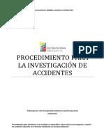 Procedimiento Investigación de Accidentes