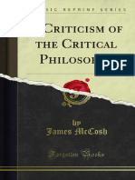 A Criticism of the Critical Philosophy 1000052041