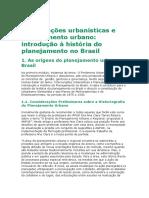 Historia Do Planejamento Urbano No Brasil.