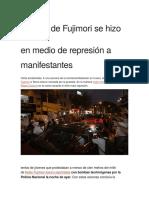 Mitin de Fujimori Se Hizo en Medio de Represión a Manifestantes